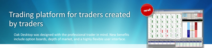 Futures and options trading platform